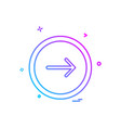 arrow button icon design vector image