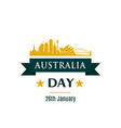 australia day greeting banner sydney skyline vector image vector image