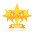 Best Seller Gold Star Background Five vector image vector image