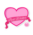 best wishes for you fame in pink colors decorated vector image vector image