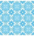 blue geometric seamless tiled pattern vector image vector image