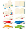 books and opened books vector image vector image