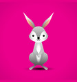 cartoon adorable rabbit vector image vector image