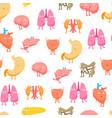 cartoon internal organs funny emotions seamless vector image vector image