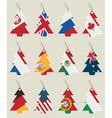 christmas tree flag tags vector image vector image