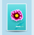 cover template realistic vector image
