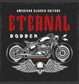 custom motorcycle vintage emblem vector image vector image