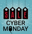 Cyber Monday design sales Mouse icon November or vector image