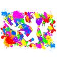 Dancers on Paint Splats vector image vector image