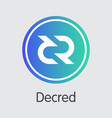 decred - cryptocurrency logo vector image vector image