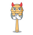 devil honey spoon mascot cartoon vector image