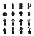 different cactuses icons set simple style vector image vector image
