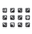 different kind of tools icons vector image