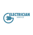 electrician service isolated icon logotype of vector image vector image