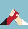 evil vs god armwrestling promise competition vector image