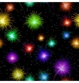 Fireworks seamless vector image vector image