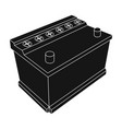 for automobile batterycar single icon in black vector image