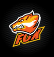 fox head from side can be used for club or team vector image