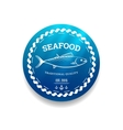 Fresh seafood label vector image