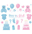 gender reveal clipart blue and pink colors vector image vector image