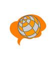 global smart think business logo vector image vector image