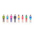 group happy people vector image