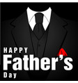happy father day black tuxedo black background v vector image vector image