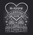 happy valentines day chalkboard card vector image
