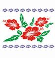 hibiscus clip art vector image