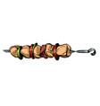 kebab shashlik grilled on a skewer food meat vector image vector image