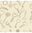 Keys set seamless retro vector image vector image