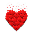 Little hearts form a big heart Valentines day vector image vector image