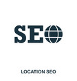 location seo icon line style icon design ui vector image vector image