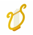 Lyre icon in isometric 3d style vector image vector image