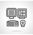 Medical equipment black line icon vector image