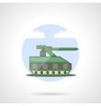 Military tank flat color icon vector image
