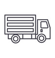 mini truck line icon sign on vector image vector image