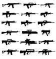 modern rifles and machine guns vector image vector image