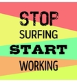 Motivational Poster for Work vector image