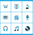 music colored icons set collection of microphone vector image