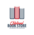 national book store logo education and book vector image vector image