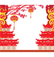 Oriental Happy Chinese New Year card vector image vector image