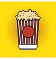 pop corn bucket pop art design vector image vector image