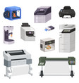 printer print machine technology office vector image vector image