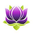 purple lotus flower icon vector image vector image