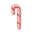realistic xmas candy cane isolated on transparent vector image