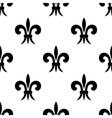 Repeat seamless pattern of fleur de lys vector image vector image