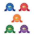 Satisfaction guarantee badges vector image vector image