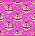 seamless ice cream and floral pattern vector image