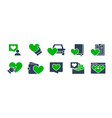 set like feedback colored icons friendship vector image
